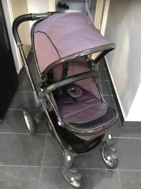 Egg Pushchair with kiddy 2 car seat and isofix base