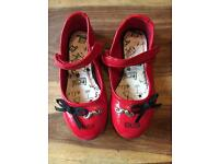 Red girls size 11 flat shoes