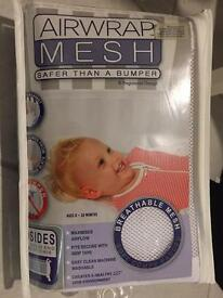 Airwrap Mesh 2 sided Cot Bumper white