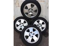 Set of 4 Alloy Wheels & 4 Great Tyres For Ford Fiesta, KA, Etc