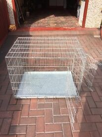 Med to Large silver pet cage