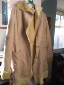 Faux sheepskin coat, Size 12-14, Fenn Wright Mason,