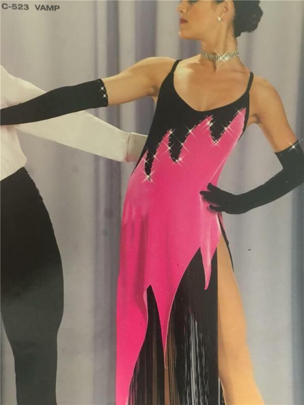 Dance Costume Lyrical Ballet  Pageant  Art  Stone Pink Medium Adult Dress Vamp