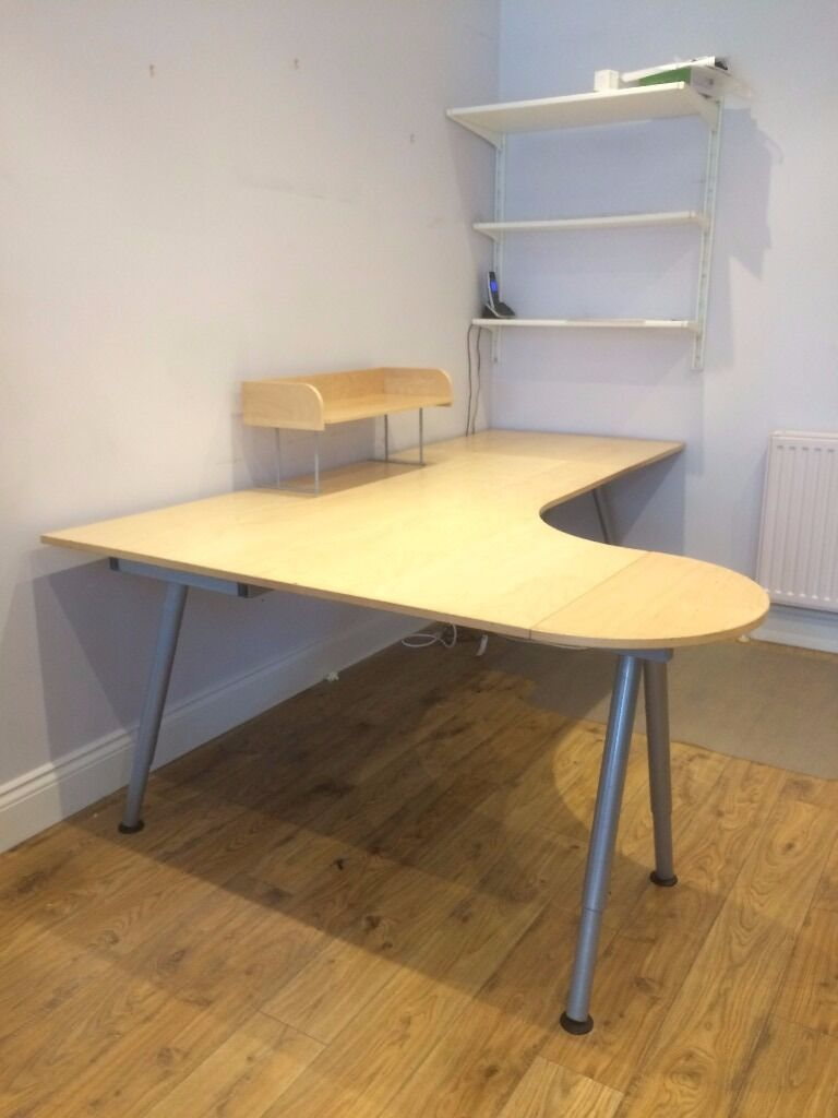 Ikea Galant Desk For With Extensions Cable Tidy And