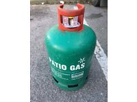 Full Calor patio heater or bbq gas cylinder