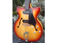 German made ES335 Type Guitar with P90s