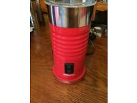 Milk frother warmer Aeroccino, hot and chilled milk, Red, Used once, Boxed