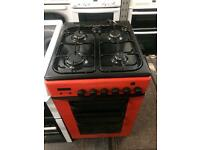 Red baumatic 50cm gas cooker grill & oven good condition with guarantee