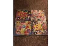 4 x Pop party CD's