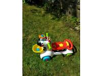 Vtech zebra ride on and scootee