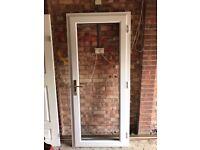 golden oak 70mm upvc door
