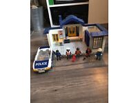 Playmobil police station and police car