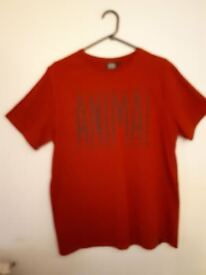 New without tags Mens Red Size Medium ANIMAL Tshirt.