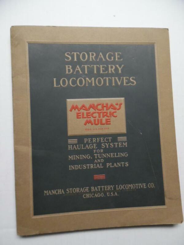 1930s Macha Storage Battery Locomotive Co. Electric Mule Mine Proposal Catalog