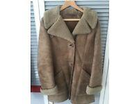 Vintage (1970's) Mandora Sheepskin 3/4 length coat