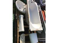 Quality White Bathroom SuiteToilet Basin Bath Taps suit small bathroom terrace house landlord tenant
