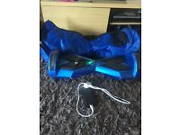 blue 8inch swegway with built in bluetooth speaker
