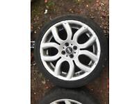 BMW mini R56 alloy wheels and trues 205/45/17 17 inch alloys