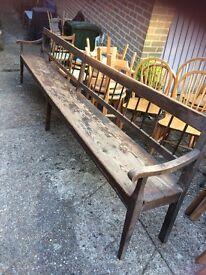Oak & Pine Very Long Bench Seat