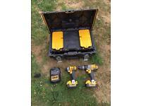 DeWALT DCK290M2-GB 18V 4.0 AH LI-ION X-RAY TWIN PACK COMBI DRILL & IMPACT DRIVER
