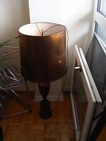 ORIGINAL LEVITON VINTAGE LAMP FROM THE 50's - RED AND GOLD