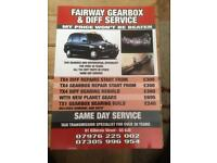 Taxi TX4 diff and gearbox repairs