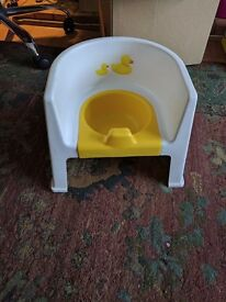 Yellow and White potty seat