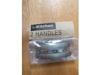Kitchen cupboard door handles silver modern attractive £