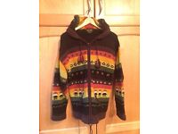 Soul Chic tribal style loose hooded wooden cardigan