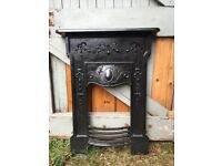Vintage Cast Iron Fireplace