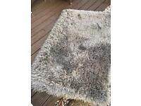 Grey fluffy rug