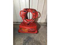 Lightning McQueen toilet seat set