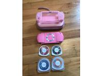 Immaculate Pink PSP + 4 games + case