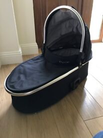 Oyster carrycot. Hardly used. Excellent condition with rain cover