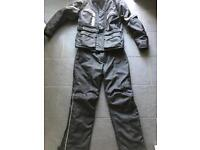 Motorbike jacket trousers size Large