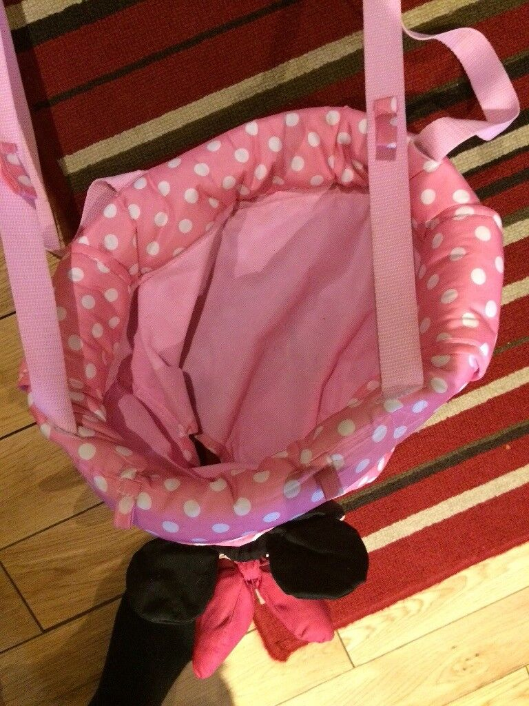 Minnie Mouse baby bouncer.