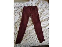 Burgundy ZARA trousers, Women's 40 (EUR)