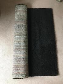 Black high pile rug - Hampen Ikea