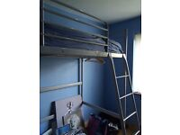 Silver metal high sleeper for sale £40