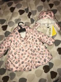 Baby girl Kenzo coat size 6 months