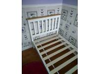 Single Bed solid wood White