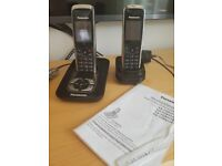 Panasonic Digital Cordless Twin Set Phone with Answering System