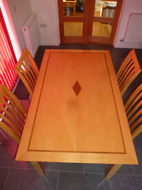 Dining Table, 6 Chairs and matching Coffee and Lamp tables - all excellent condition