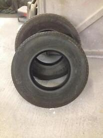 2 jeep tyres 265/70 r16 near new only done 100 miles