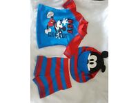 Baby swimming suit 3-6 months blue and red mickey mouse