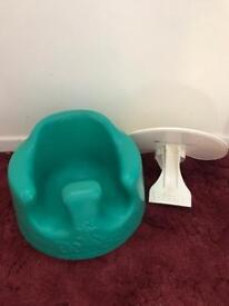 Bumbo chair with detachable tray