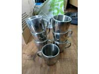 Metal camping mugs