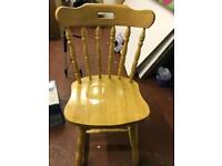3 Solid wood chairs