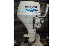 Suzuki 15HP 4 stroke engine.