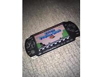 Sony PSP console with sega Nintendo SNES